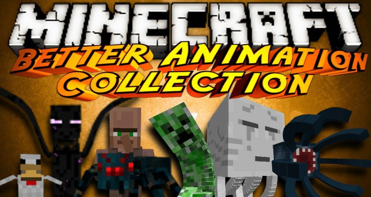 Better Animations Collection 2 мод 1.14.4/1.12.2